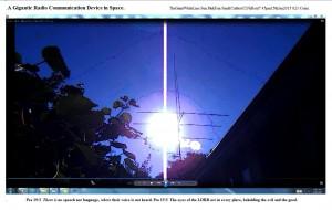 TheGiantWhiteLine.Sun.PinkFan.Sun&Cables(C)NjRout7.45pm15thJan2015 023 Coins.WP.Graph.
