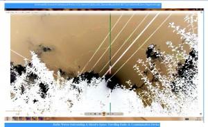 Antennae&CamerasinCableaboveTheSun.6.SunMarch(C)NjRout10.26am3rdMarch2014-002-SunCableAnt&Cams.WP.Graph.Lge.Snipped.Negative
