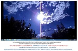 SunPinkFanGiantWhiteLine.SunnuS(C)NjRout5.19pm31stJan2014 005 SunPinkFanWhiteLine.RadioCommunicationDevice.