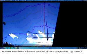Antennae&Camera'sinSun'sCableMassive.sunsetJan(C)NjRout7.47pm3rdJan2014 035 Graph.P.B.