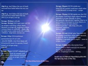 Sun&Coins.(C)NjRout5.56pm26thJan2014 001 SprayingArmsofTheSun.