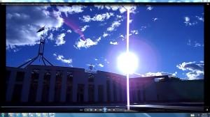SunPinkGiantWhiteLineatParliamentHouseCanberra.parliamentHouseCanberra&SunPinkFanThis.(C)NjRout9.18pm12thNovember2013 196