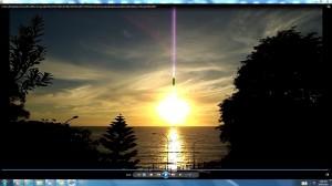 Antennae&CamerasinaMassiveCableofThe Sunover the Bondi Sea.Copyright(C)NjRout3.46 pm24thNov2013.073