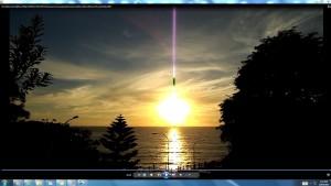 Antennae&CamerasinCablesoftheSunovertheBondiSea(C)NjRout24thNov2013.S.