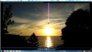 The Sun & Its' Gigantic Cable over the Bondi Sea.A.