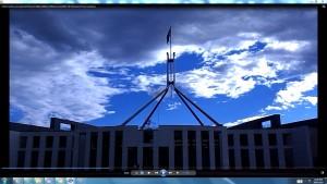 MyPictureof-ParliamentHouseCanberra&TheSun(C)NjRout918pm12thNovember2013 159 Parliament House Canberra.