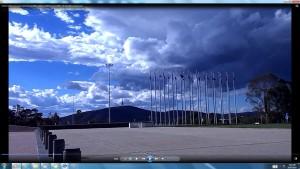 WeatherChangingatParliamentHouseCanberra&TheSun(C)NjRout918pm12thNovember2013 135 BlackMountainTower.