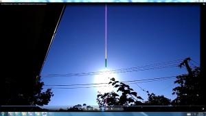 AntennaeAttachedtoTheSun.SOMEONE!intheSun.12.Sun.WhiteLine.Cable.Coins.(C)NjRout8.07am3rdJan2014 013 Antennae&Cameras.