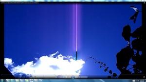 Antennae&CamerasinSunsMassiveCable.Sun10February(C)NjRout10.53am20thFeb2014 005 SunPinkCablesAntennaeCamerasWhiteLine.