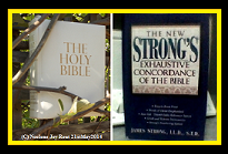 Bible&StrongsConcordance.(C)NjRout21stMay2014.Small.Black&Gold.