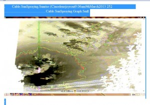 Cable.SunSpraying.Sunrise (C)noelenejoyrout9.06am9thMarch2013 252 Cable.SunSpraying.Graph.Negative.Smll.