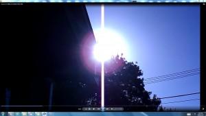 Sun.PinkFan.WhiteLine.Sunrise (C) NJRout 23rdMarch2013 081