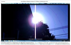 Sun.PinkFan.WhiteLine.Sunrise (C) NJRout 23rdMarch2013 081 RadioCommunication.