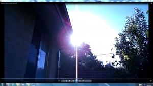 Sun.PinkFan.WhiteLine.Sunrise (C) NJRout 23rdMarch2013 084