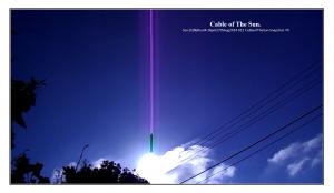 Sun.(C)NjRout4.18pm27thAug2014 012 CableofTheSun.Snapshot_70_WhiteFrame.