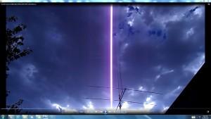 ThreeElementBeam.SunSetClouds.(C)NjRout8pm29thJan2014 004.CablesorWaterPipesMassiveofTheSun.