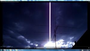 ThreeElementBeam.SunSetClouds.(C)NjRout8pm29thJan2014 008.TheGiantwhiteLine