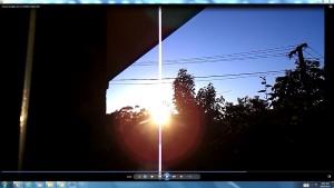 GiantWhiteLinePinkFan&TheSun.TheSun(C)NjRout7.17am29thOct2015 001