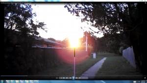 SuninLane.SunSetSpraying.Moon.(C)NjRout8.16pm5thDec2014 009 Sun&CableinLane.