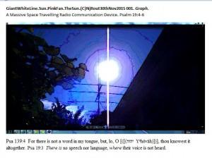 GiantWhiteLine.Sun.PinkFan.TheSun.(C)NjRout30thNov2015 001. Graph.