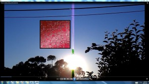 TheSun.A.TheSun.(C)NjRout9.40pm18thFeb2016 014.BlueLight.Red.ComputerBoard!