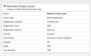 Bertram Fraser Lyon.
