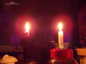 Candlelight!.TheSun(C)NjRout2.38am27thJan2016 147 Candles&PinkFans.