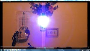 Antennae&CamerasInCablesaboveandbeneaththeLightofaTorch.Torch&TheSun.(C)7.45pm5thJune2016 041