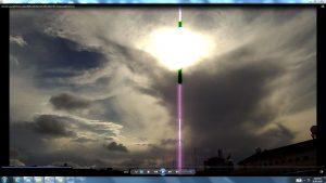 Antennae&CamerasinGiganticCableofTheSunatBondiBeach.BondiCopyright(C)NjRout6.05pm23rdNov2013 013 Antennae&Cameras.